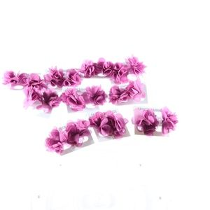 Earrings Costume Jewelry Bundle Of 5 Pink Flower
